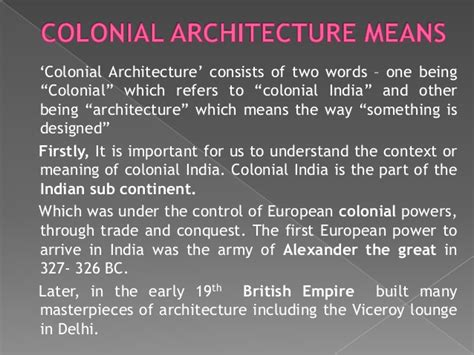 Modern Victorian Decor colonial architecture in india