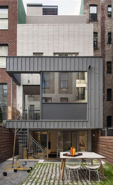 house design new york contemporary appearance camouflaging brooklyn roots slate