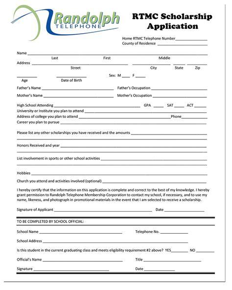 Application Letter Rtmc Scholarship Application Images