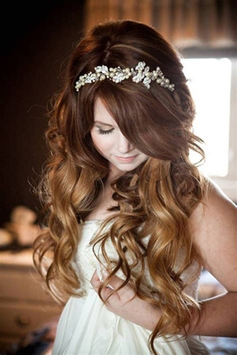 wedding hairstyles with headband and curls blog