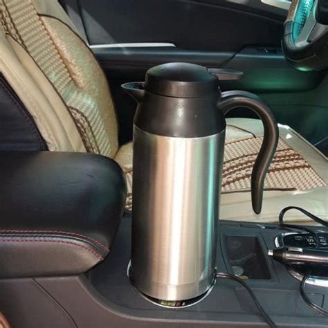 Elektric Heating Cup 13cm hj 18a stainless steel electric mug 750ml dc 12v car electric kettle heated mug car coffee cup