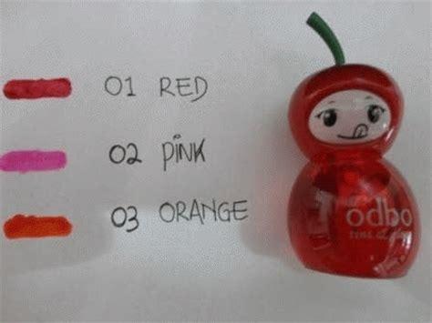 Lip Tint Odbo Pewarna Bibir Korea Asli odbo lip tint boneka asli jual kosmetik murah