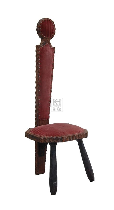 Velvet High Back Chair by Prop Hire 187 Chairs 187 Wood Velvet High Back Chair