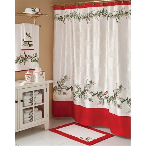 Winter Themed Shower Curtains by 17 Best Images About Jingle Bell Bathroom On