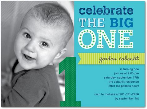 16 best birthday invites printable sle - 1 Year Birthday Invitation Templates Free