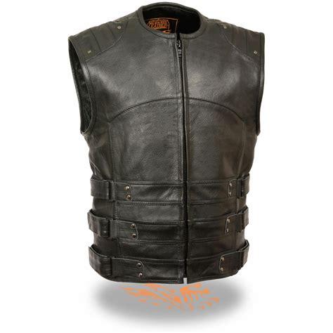Vest Swat milwaukee leather updated swat style biker vest 627588