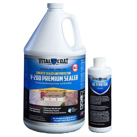 Acrylic Epoxy Vital Coat V 200 Protective 9 Lb Water Base Acrylic Epoxy