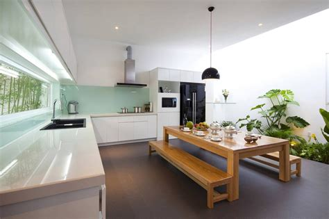 fresh home kitchen design a fresh home with open living area internal courtyard