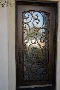 Front Doors With Wrought Iron Custom Wrought Iron Front Door Single Doors