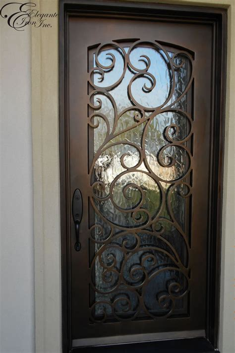 Wrought Iron Exterior Door Custom Wrought Iron Front Door Single Doors Pinterest