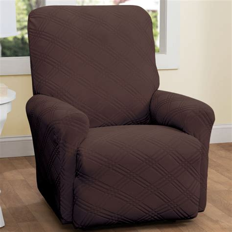 slipcover recliner chair double diamond stretch recliner slipcovers