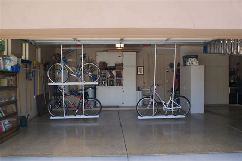 garage organization company and single motorized bike lift in position