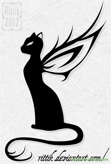 tribal cat tattoos designs cat designs