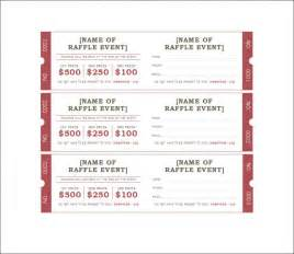 raffle ticket template 7 free templates free