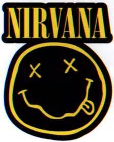 Logo Sticker Nirvana Diecut Smiley Logo Sticker