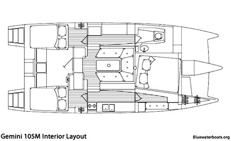 interior design layout sle the gemini 105m sailboat bluewaterboats org