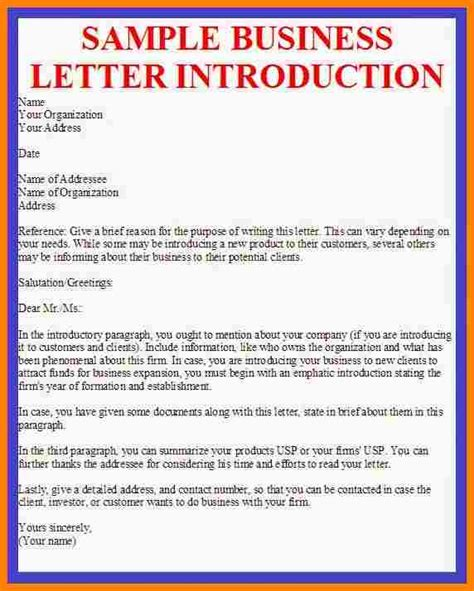 Basics Of Business Letter Writing 9 company introductions exles introduction letter