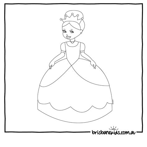 Colouring In Printables For Kids Just For Fun Brisbane Www Princess Coloring Pictures