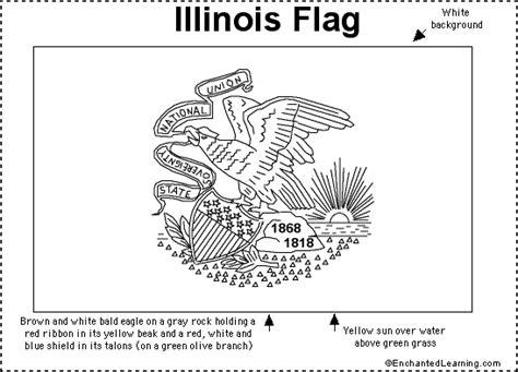 Illinois Flag Printout Enchantedlearning Com Illinois State Flag Coloring Page