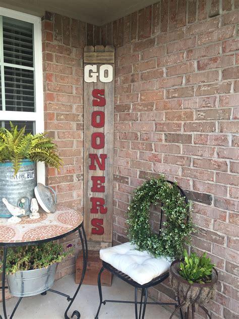 sooners porch sign porch signs diy front porch