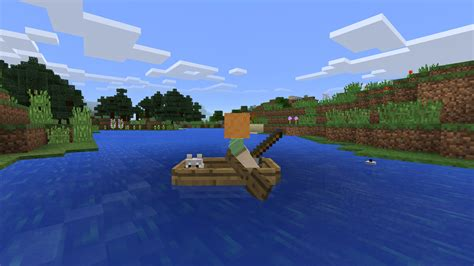 minecraft dog on boat pocket edition now has skins chicken jockeys more