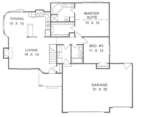 ura floor plan traditional style house plan 2 beds 2 baths 1254 sq ft