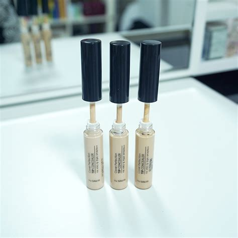 The Saem Cover Perfection Tip Concealer 01 Clear Beige the saem cover perfection tip concealer review