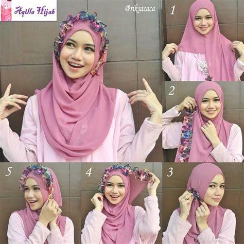 tutorial hijab segi empat pesta pernikahan modern dan mewah cara memakai jilbab segi empat kreasi