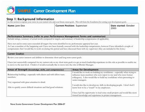 11 New Individual Performance Plan Exles Davidhowald Com Davidhowald Com Career Development Plan Template For Employees