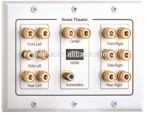 channel home theatre speaker wall plate