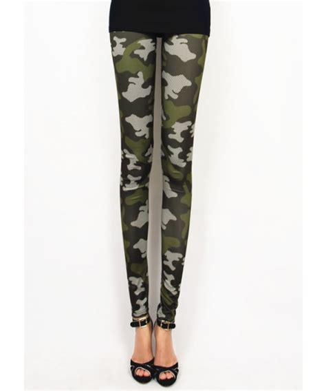 army pattern leggings army green cool camouflage printing women leggings lsjr464