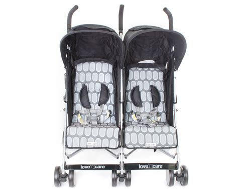 love n comfort home health care love n care push n go duo stroller black rock great