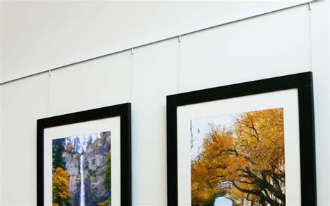 how to hang art on wall modern cable rail system for hanging art arakawa hanging