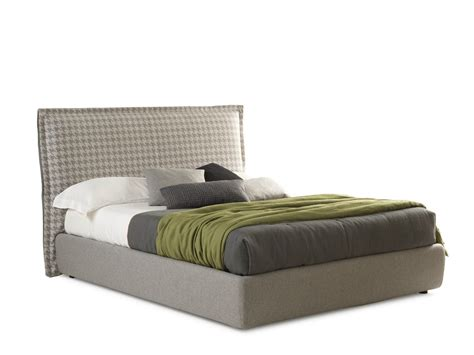 Big Headboard Beds Fabric Bed With High Headboard Handsome Big By Bolzan Letti