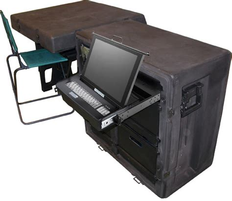 computer desk built in usb tactical field office with computer built in