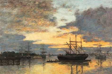 Home Decor Apps For Ipad by Bordeaux In The Harbor Painting By Eugene Louis Boudin