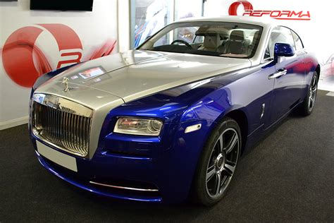 wrapped rolls royce rolls royce wraith roof wrap reforma uk