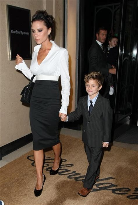 david victoria beckham biography romeo beckham in the beckhams out for dinner on christmas