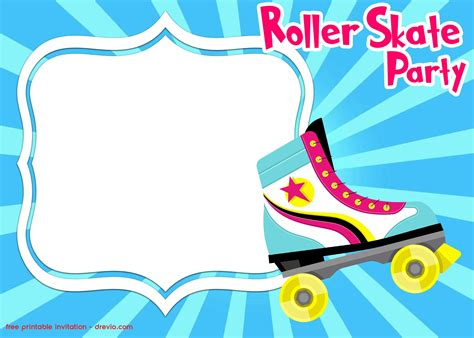 roller skating invitation templates  printable birthday invitation templates bagvania