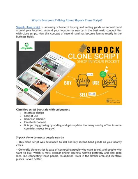 Ppt why is everyone talking about shpock clone script powerpoint presentation id 7682285