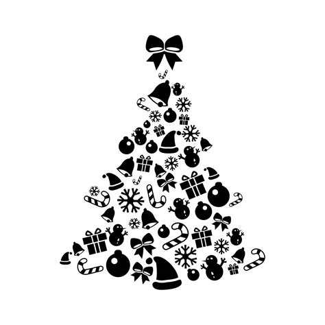 christmas dxf free tree elements graphics svg dxf eps png cdr ai pdf