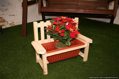 wooden bench with planters novelty garden planters unreal gardens
