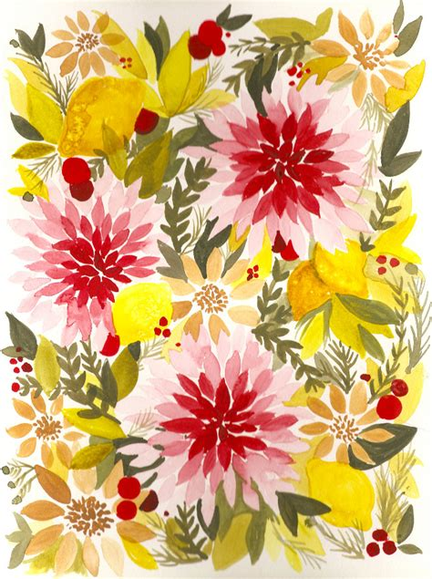 pattern flowers illustrator summer florals brittany burton illustrator