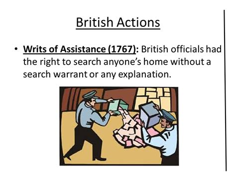 Of Assistance Search Warrants Homes Actions Colonial Reactions Ppt