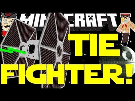 minecraft wars tie fighter flyable