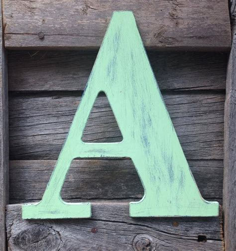 Handmade Wooden Letters - decorating with wooden letters