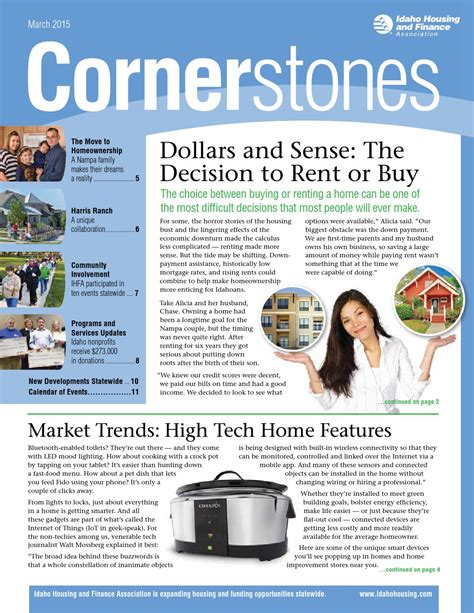 idaho housing and finance association cornerstones march 2015 by idaho housing and finance association issuu