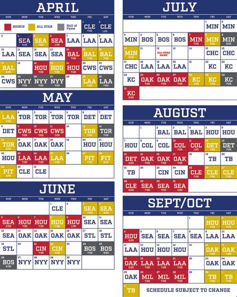 printable rangers schedule group seating texas rangers