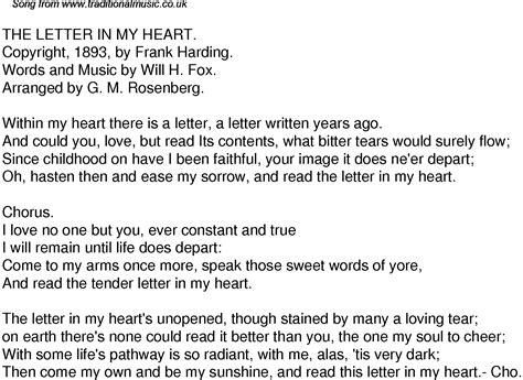 Letter Lyrics Time Song Lyrics For 39 The Letter In My