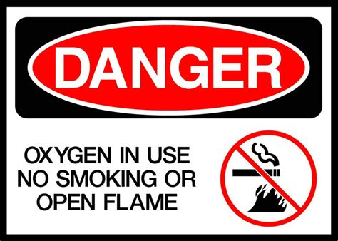 no smoking oxygen in use sign r5400 by safetysign com oxygen in use no smoking or open flames danger osha